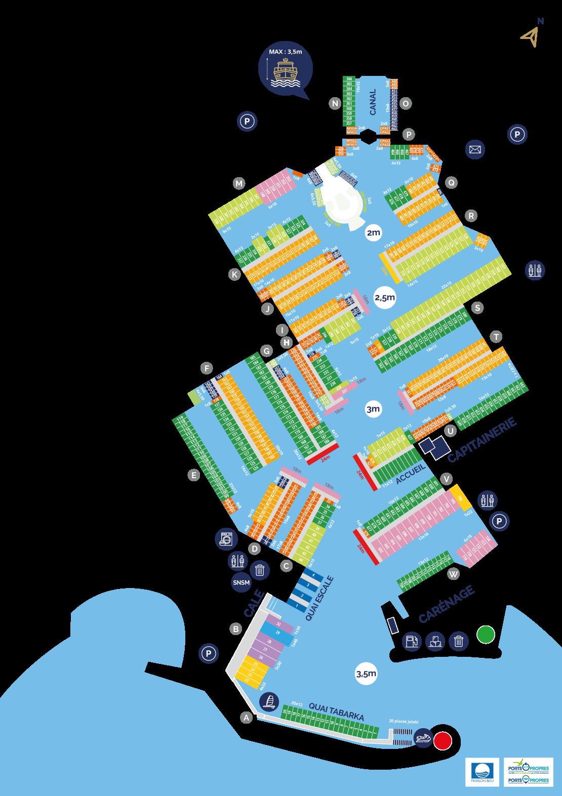 Plan du port principal