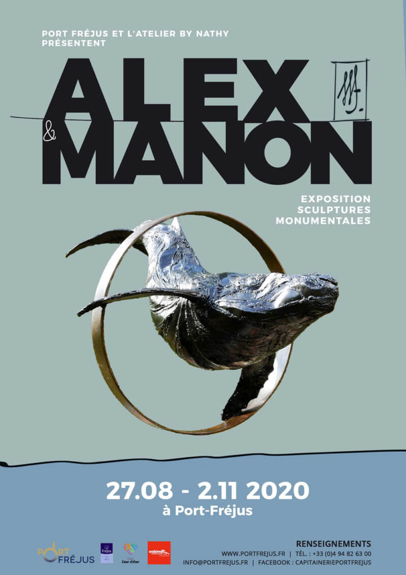 ALEX AND MANON exhibition in Port-Fréjus