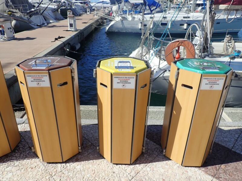 New signage for the marina rubbish bins
