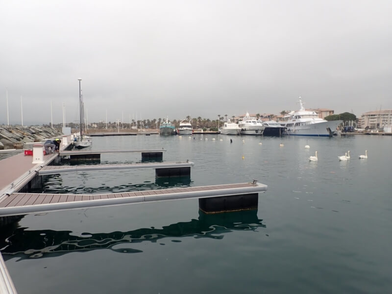 The sailing school pontoons are ready